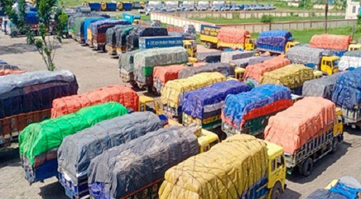 পণ্যবোঝাই ৯০০ ট্রাকের জট বেনাপোল বন্দরে