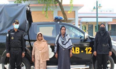 সিরাজগঞ্জে বিশ লক্ষ টাকার হেরোইনসহ ২জন নারী মাদক ব্যবসায়ী আটক